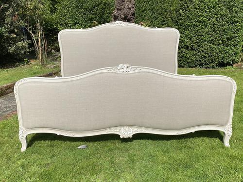 Superkingsize French painted bed (1 of 6)
