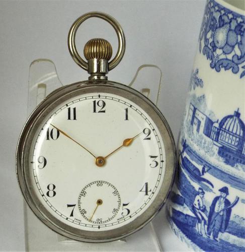 1920s Swiss stem winding pocket watch. (1 of 5)