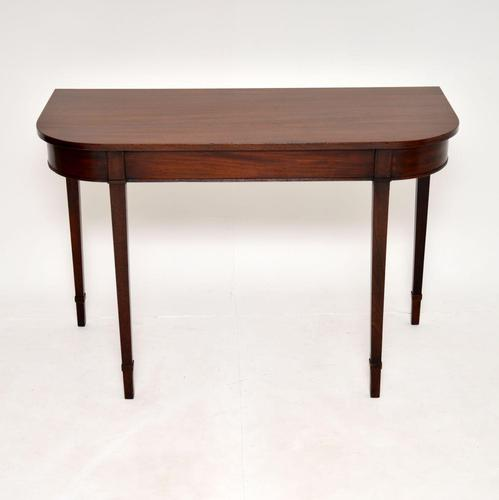 Antique Georgian Mahogany Console Side Table (1 of 8)