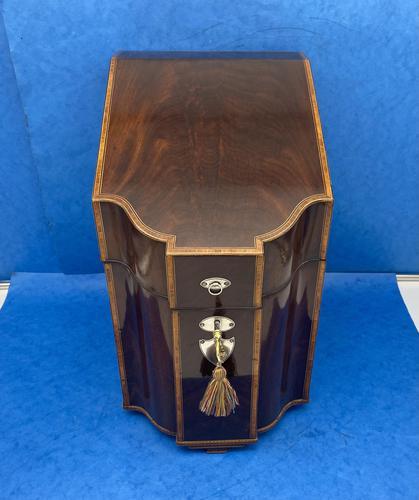 George III Mahogany Cutlery Box (1 of 12)