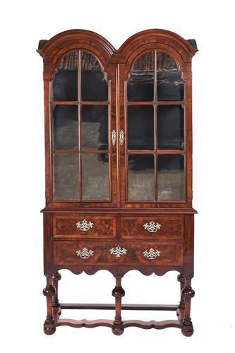 Queen Anne Revival Walnut Double Dome Display Cabinet c.1880 (1 of 5)
