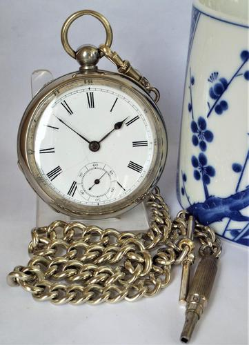 Vintage 1920s Swiss pocket watch & chain. (1 of 5)