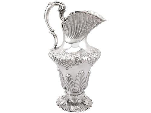 Irish Sterling Silver Water / Wine Jug - Antique William IV 1834 (1 of 15)