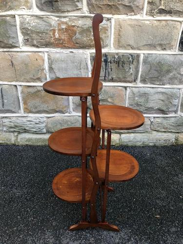 Antique Edwardian Inlaid Mahogany Stand (1 of 11)
