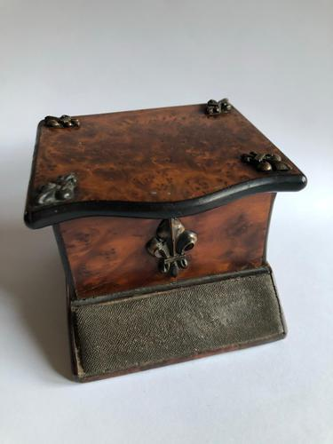 Antique Walnut Veneer Vesta Box with Striker (1 of 8)