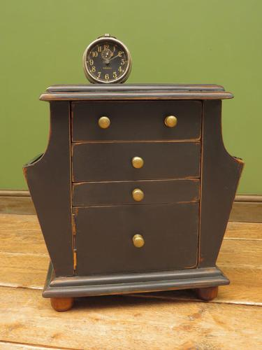 Small Black Painted Chest with Cupboard and Magazine Racks, Sofa Table (1 of 15)