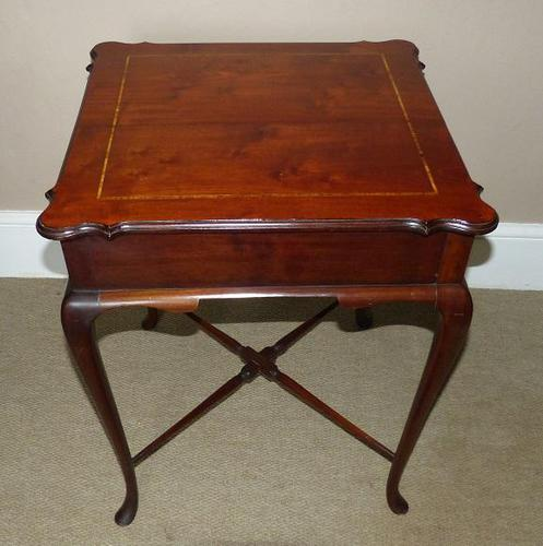 Inlaid Mahogany Occasional / Lamp Table (1 of 5)