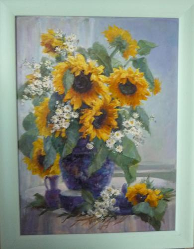 Sun Flowers Oil Painting by J.Rockingham (1 of 1)