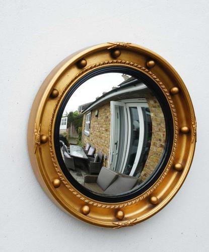 Art Deco Regency Style, Convex, Porthole  Mirror (1 of 13)