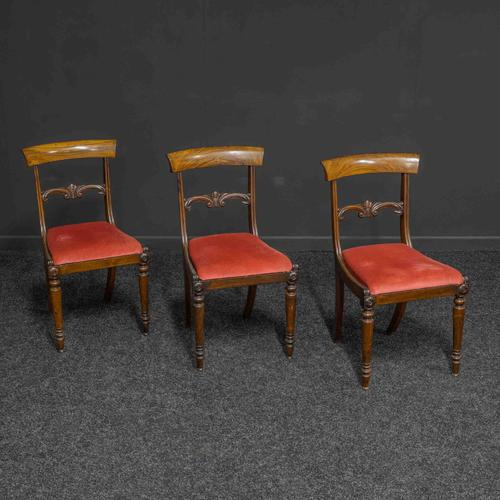 Set of Three William IV Rosewood Chairs (1 of 6)