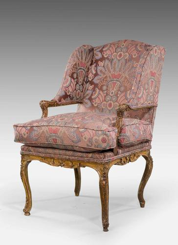 Late 19th Century French Giltwood Fauteuil (1 of 8)