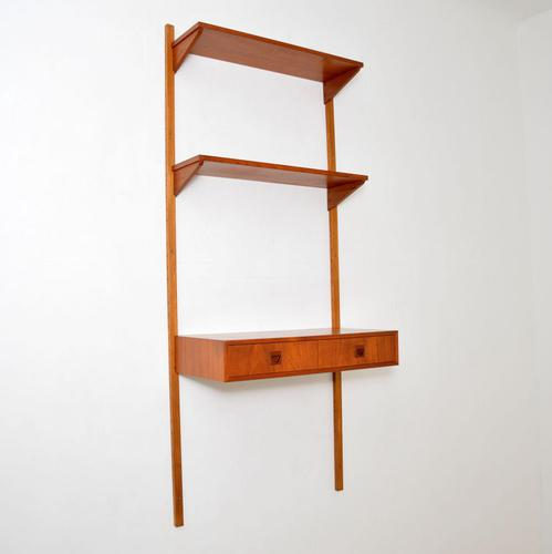 Danish Teak Vintage PS Wall System Bookcase Desk (1 of 9)