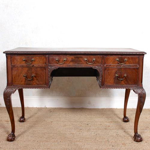 Carved Walnut Writing Desk (1 of 12)