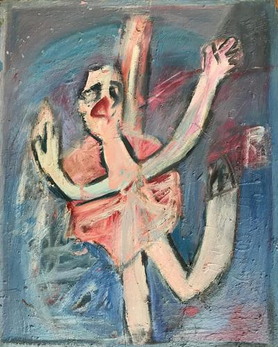 Original Oil on Board 'The Ballet dancer' by Doreen Heaton Potworowski c.1975 (1 of 1)