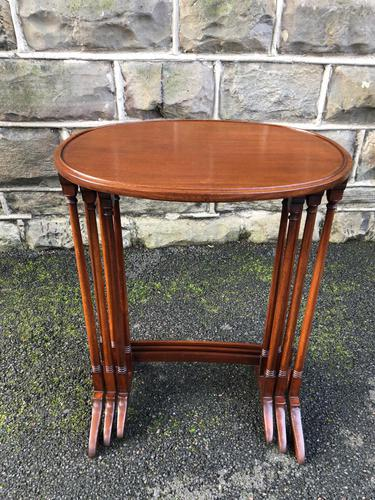 Antique Mahogany Nest of 3 Tables (1 of 7)
