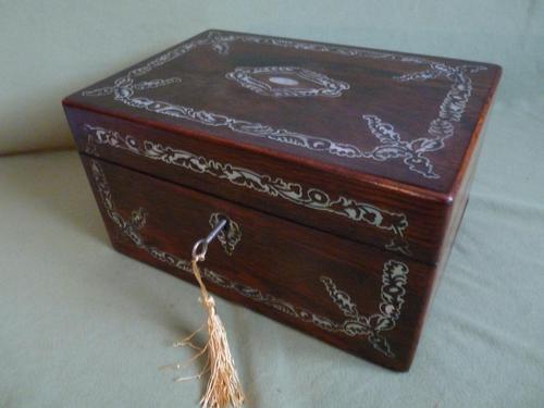 Inlaid Rosewood Jewellery Box c.1845 (1 of 10)