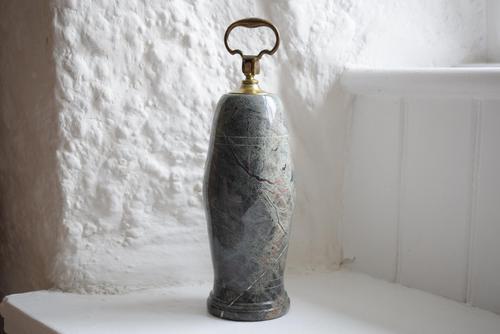 Cornish Serpentine Doorstop with Brass Handle (1 of 10)