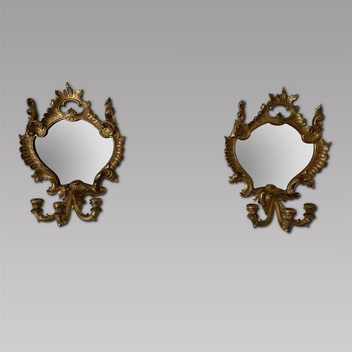 Pair of Decorative Florentine Style Wall Mirrors (1 of 4)