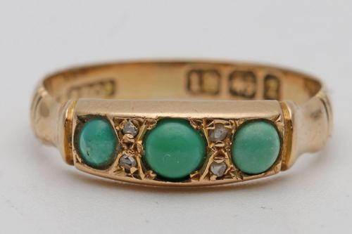 Victorian 18ct gold and turquoise ring (1 of 3)