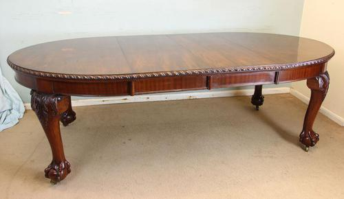 Wonderful Antique Victorian Mahogany Extending Dining Table (1 of 15)