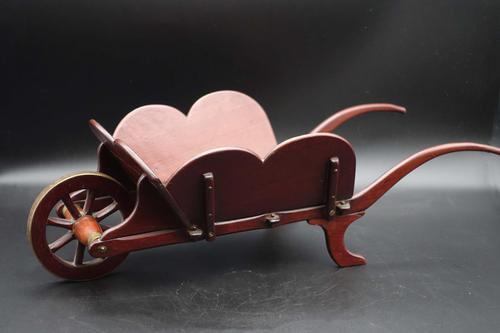 Charming Early 20th Century Mahogany Child's Wheelbarrow (1 of 5)