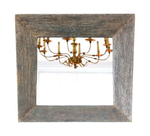 Distressed Blue Overmantle or Wall Mirror (1 of 4)