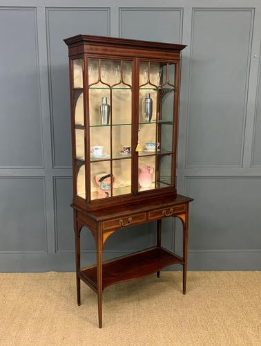 Inlaid Mahogany Display Cabinet by Shapland and Petter (1 of 21)