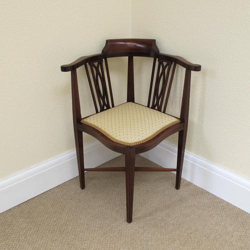 Mahogany Edwardian Corner Chair (1 of 4)