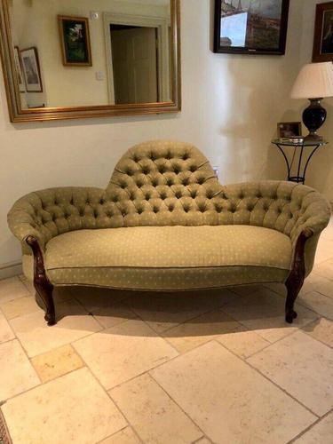 Antique Victorian Sofa Settee Buttonback (1 of 7)