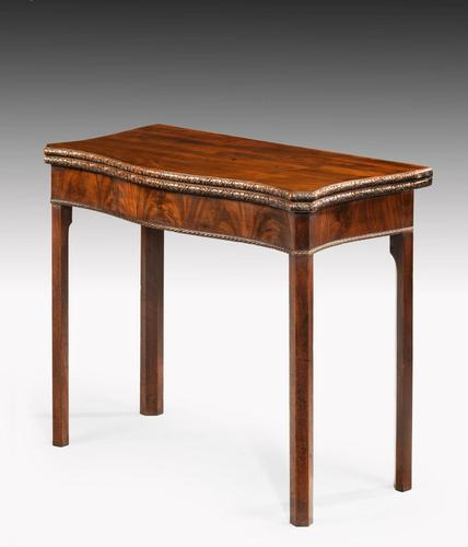 Chippendale Period Tea Table of Serpentine Outline (1 of 6)