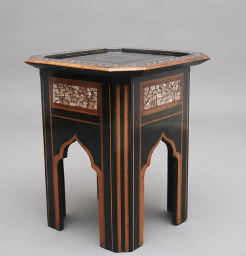 19th Century ebony and inlaid occasional table (1 of 9)