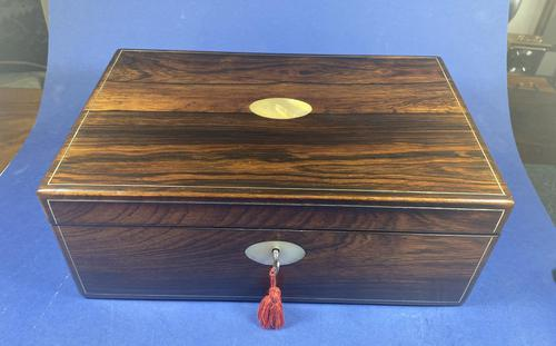 William IV Pewter Inlaid Rosewood Box (1 of 18)