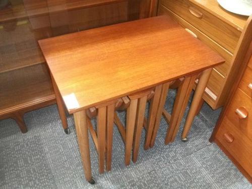 Teak Nest of 4 Tables (1 of 2)