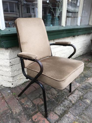 Three Vintage Metal Cinema Type Chairs (1 of 6)