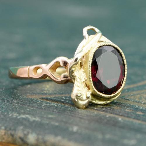 The Vintage Serpent & Garnet Ring (1 of 6)