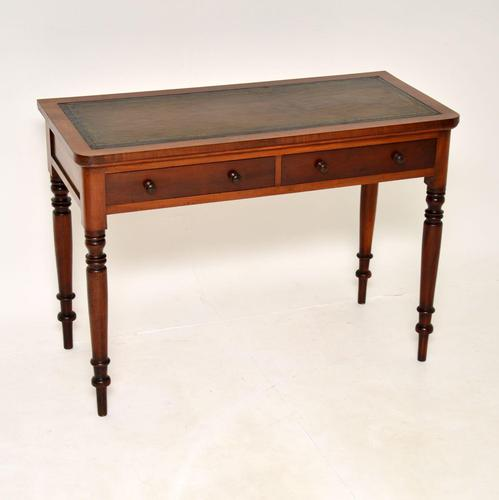 Antique Victorian  Mahogany  Leather Top Writing Table / Desk (1 of 9)