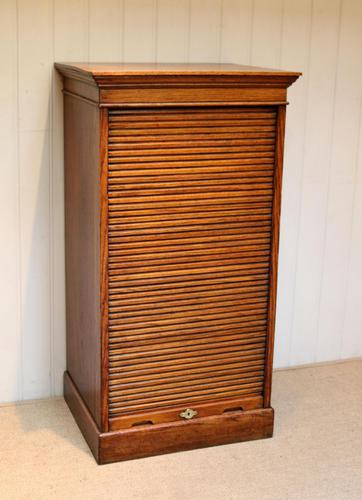Solid Oak Lebus Tambour Front Filing Cabinet (1 of 10)