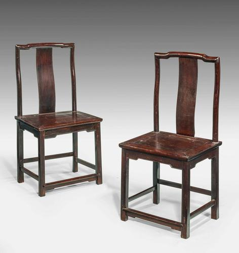 Pair of Early 19th Century Chinese Side Chairs (1 of 4)