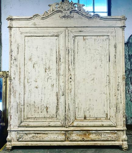 French Painted Wardrobe (1 of 7)