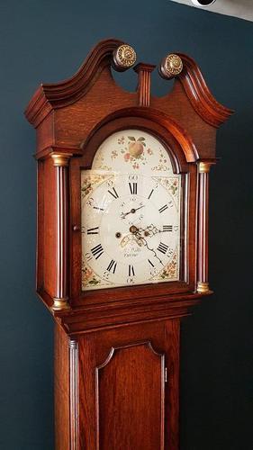 Small Antique George III 8 Day Truro Striking Longcase Clock (1 of 8)