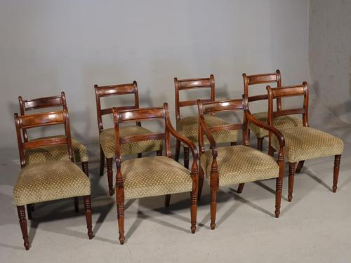 Attractive Set of 8 '6+2' Regency Period Mahogany Chairs (1 of 7)