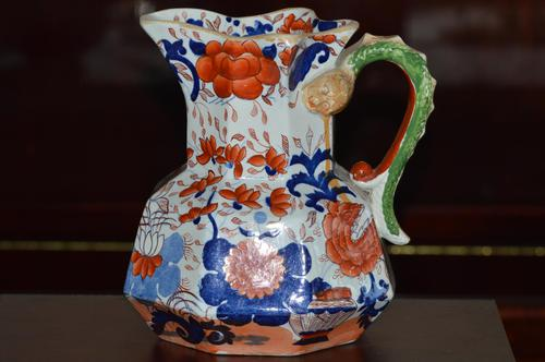 Large & Heavy 19th Century Masons Ironstone Hydra Jug or Pitcher (1 of 12)