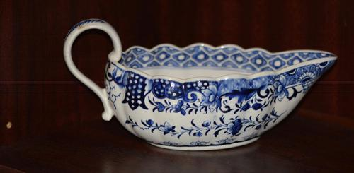 18th Century Derby Blue & White Chinoiserie Sauce Boat (1 of 12)