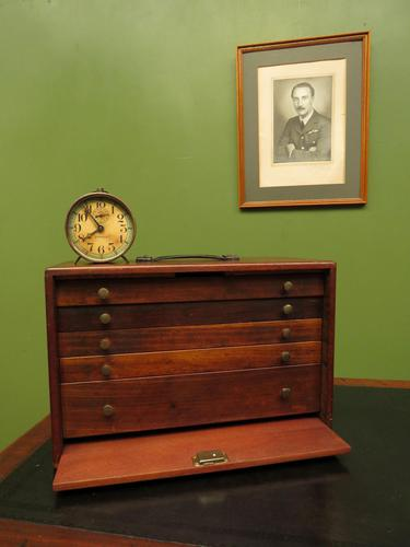 Antique Mahogany Engineers or Toolmakers Drawers, Cabinet, Lockable with Key (1 of 20)