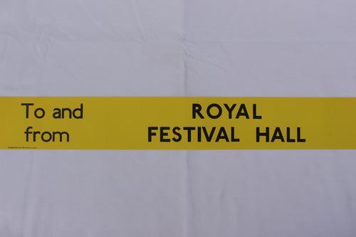 London Transport Slipboard Poster for Royal Festival Hall (1 of 1)