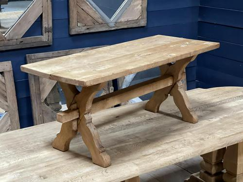 Rustic French Bleached Oak Coffee Table (1 of 20)