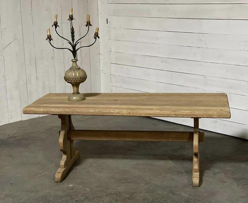 French Oak Trestle Farmhouse Dining Table (1 of 14)