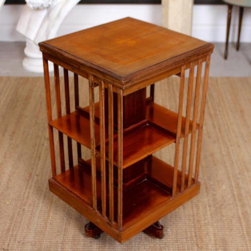 Edwardian Revolving Bookcase Inlaid Mahogany (1 of 6)