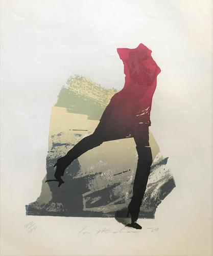 Original Lithograph 'Figure in High Heels' by Ivor Abrahams RA. 1935-2015 Signed, Dated 79 & Inscribed 100/100 (1 of 2)