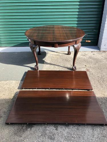 Antique Mahogany 8Ft Wind Out Extending Dining Table (1 of 14)